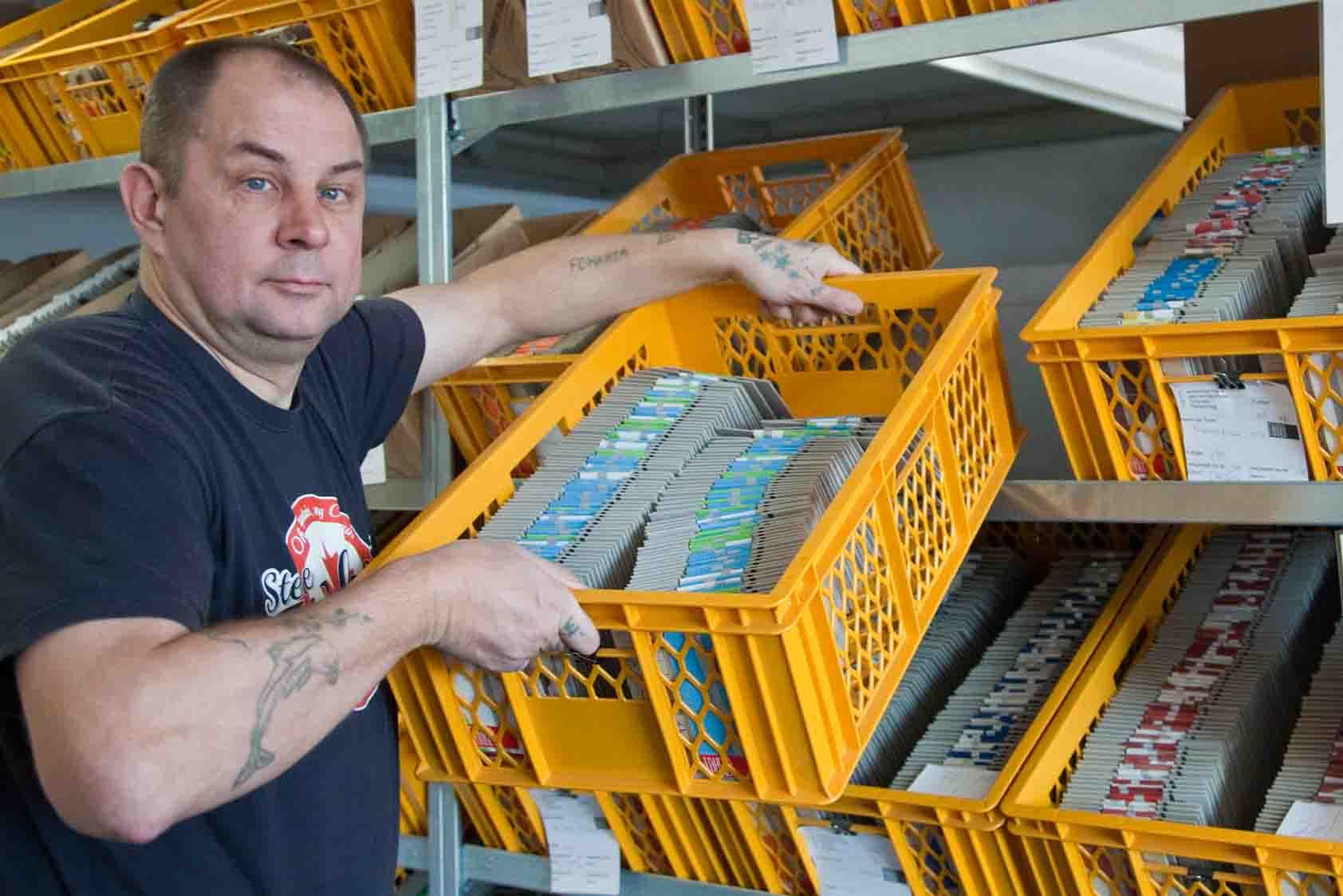 Lohnverpackung - Sortieren und einlagern von fertiger Ware