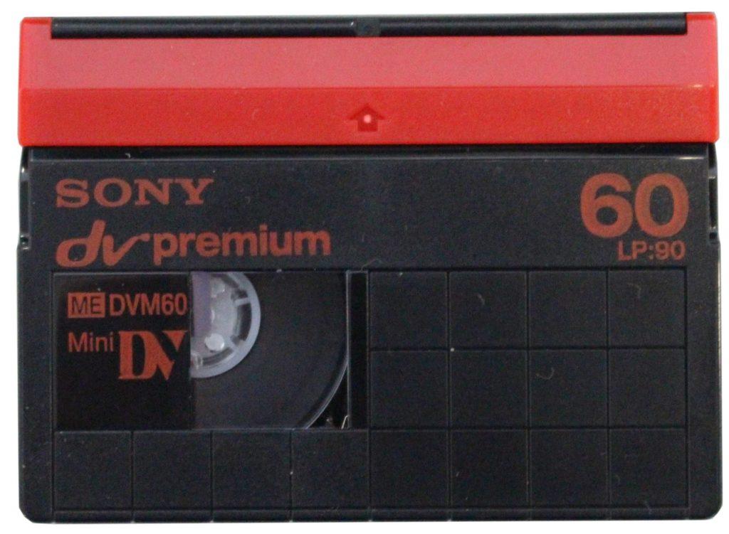Foto eine Mini DV-Kassette