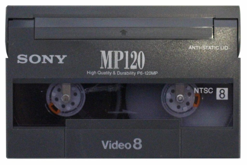 Bild eine Video 8 Kassette