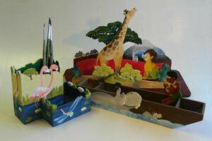 Schreibtischzubehör zum Ordnen von z.B. Stiften aus der Kreativa