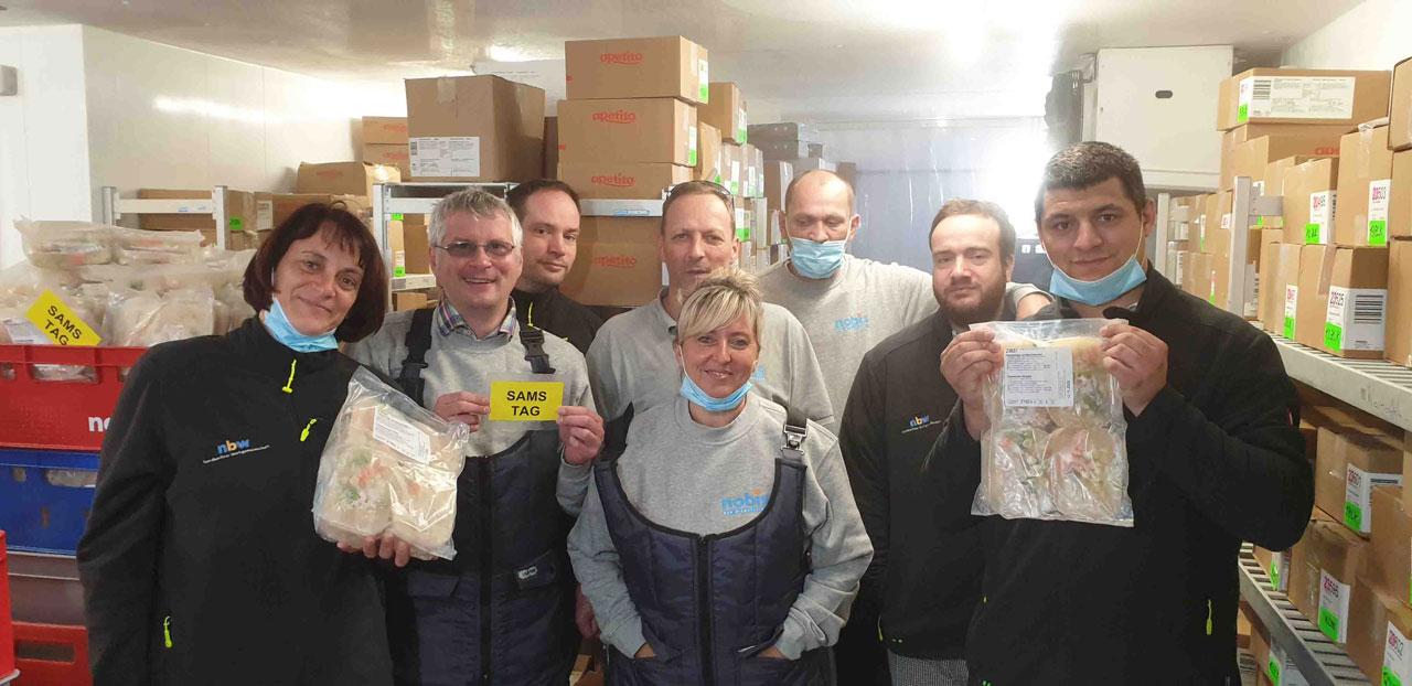 Mitarbeiter der Logistik im Tiefkühlbereich